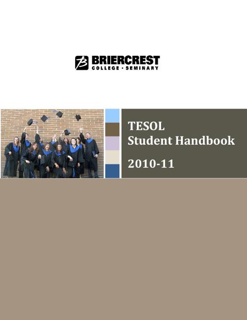 TESOL Student Handbook (2010-11)