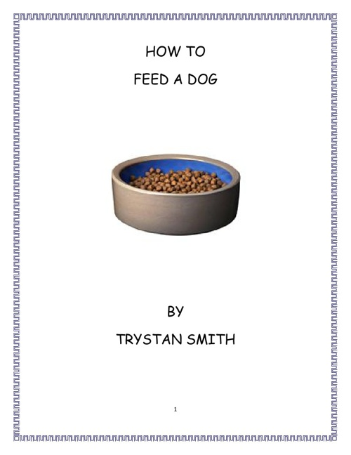 How to Feed a Dog by Trystan Smith