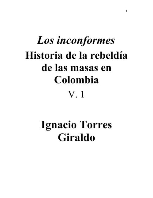 Los Inconformes - Ignacio Torres Giraldo