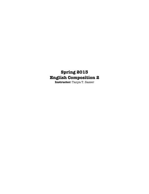 Spring 2012 EH 102 Syllabus