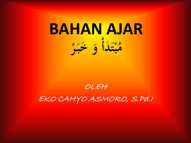 BAHAN AJAR BAHASA ARAB
