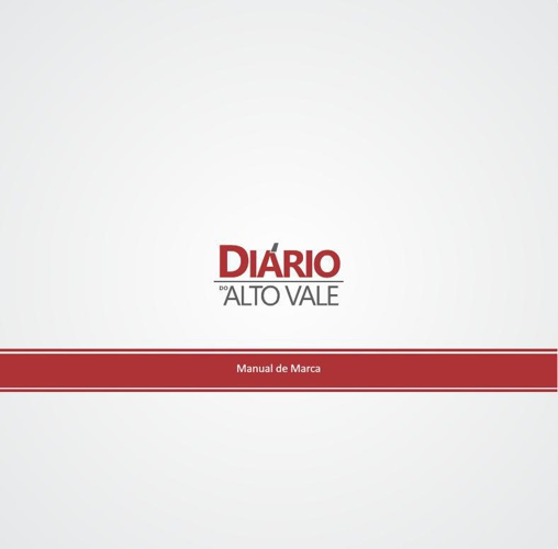 MANUAL DE MARCA DIARIO DO ALTO VALE