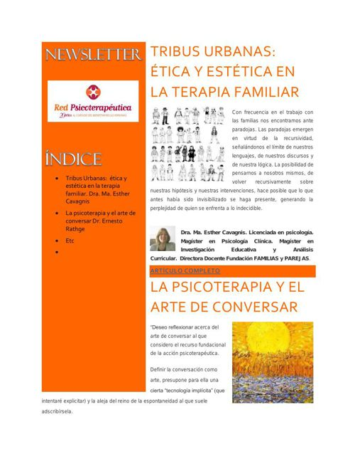 Newsletter | Red Psicoterapéutica