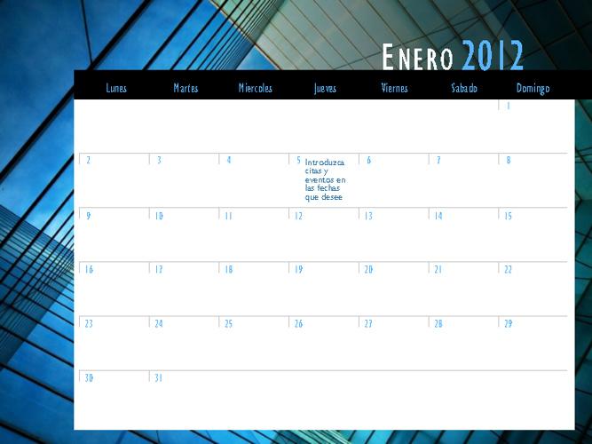 Calendario primavera 2012