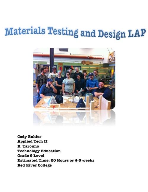 Cody Buhler's Materials Testing and Design LAP