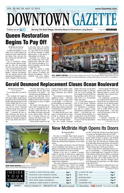 Downtown Gazette  |  July 12, 2013