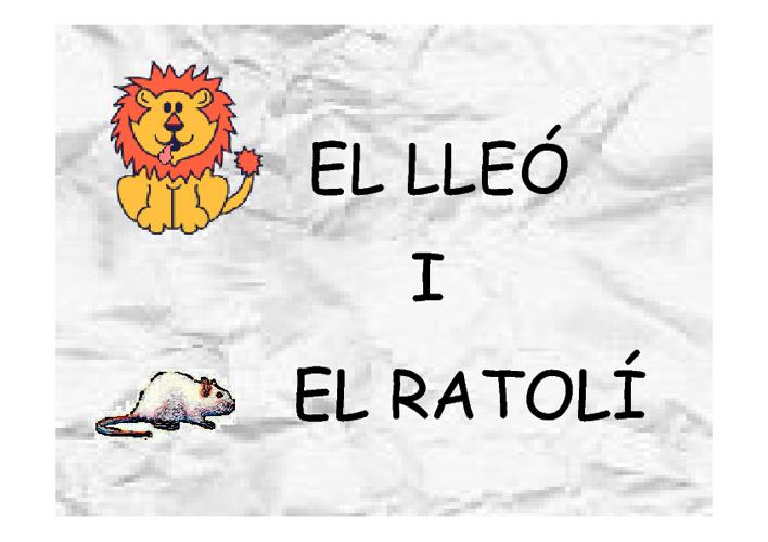 el lleó i el ratolí_conte