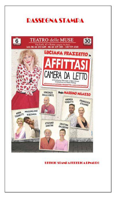 """Luciana Frazzetto """"Affittasi camera da letto"""""""