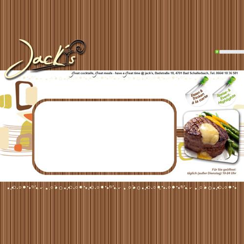 Jack's Speisekarte