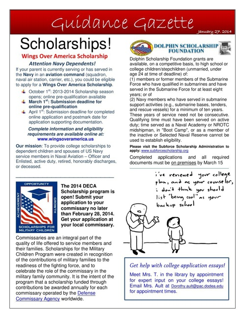 KHS - Guidance Gazette- Jan. 27 2014
