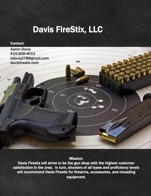 Davis-Gun Store Business Plan-12.5.2013
