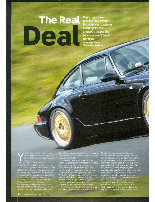 The Real Deal - Porsche 964RS Replica