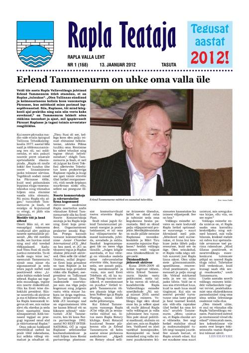 Rapla Teataja 2012