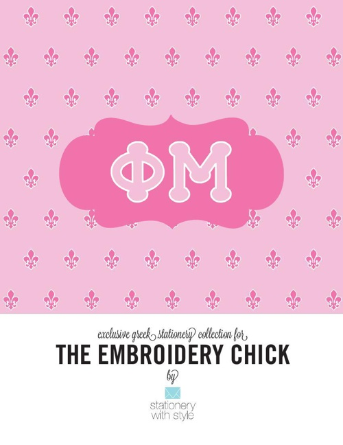 Phi Mu Stationery Collection