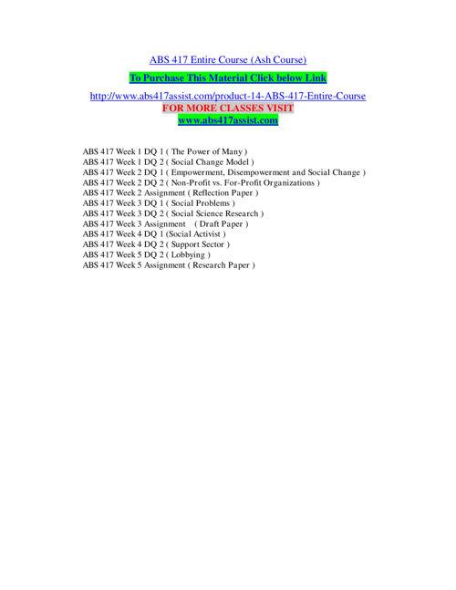 ABS 417 ASSIST EDUCATION EXPERT / abs417assist.com