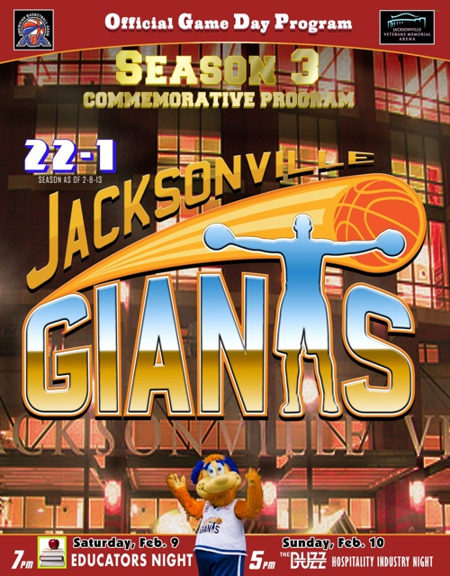 2012-2013 Jacksonville Giants Commemorative Program