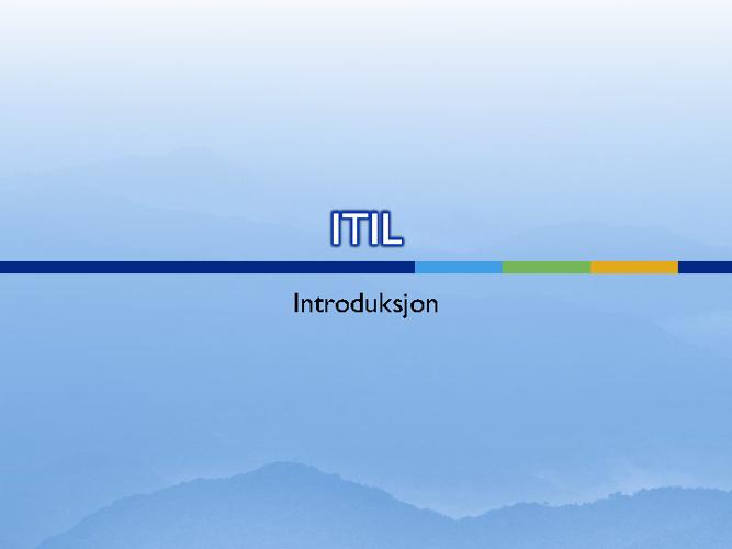 ITIL introduksjon
