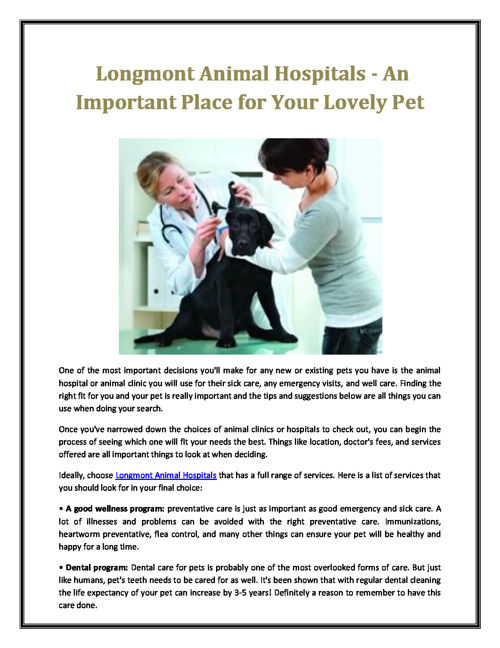 Lafayette Animal Hospitals
