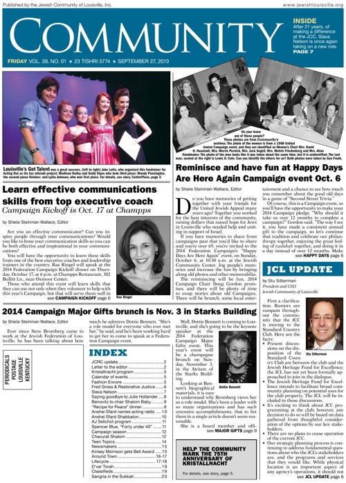 COMMUNITY in Print | September 27, 2013