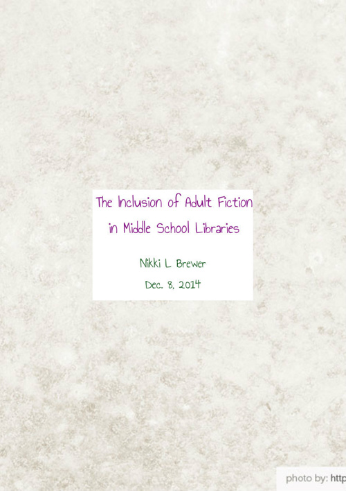 Inclusion of Adult Fiction into a Middle School Library