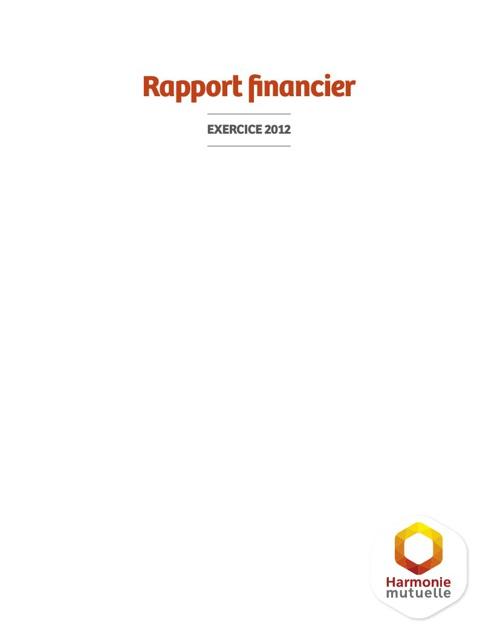 Rapport Financier (Exercice 2012)