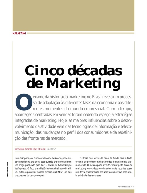 5 Décadas de marketing
