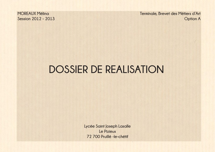 Copy of Dossier de réalisation
