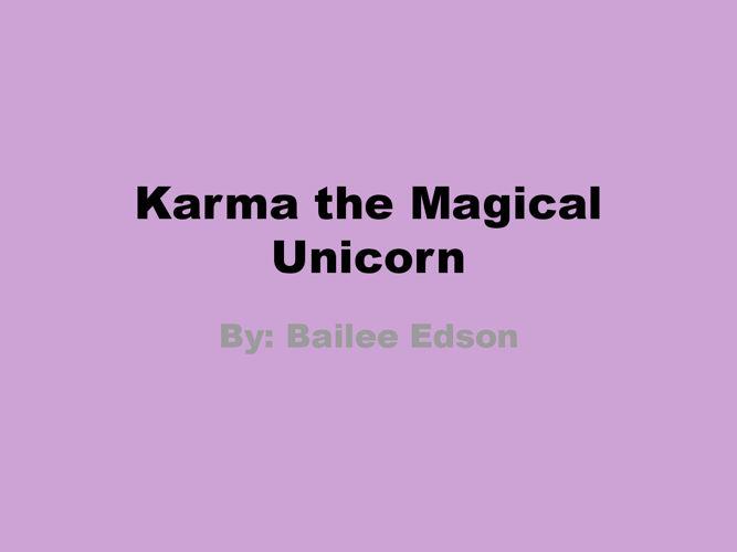 Karma the Magical Unicorn