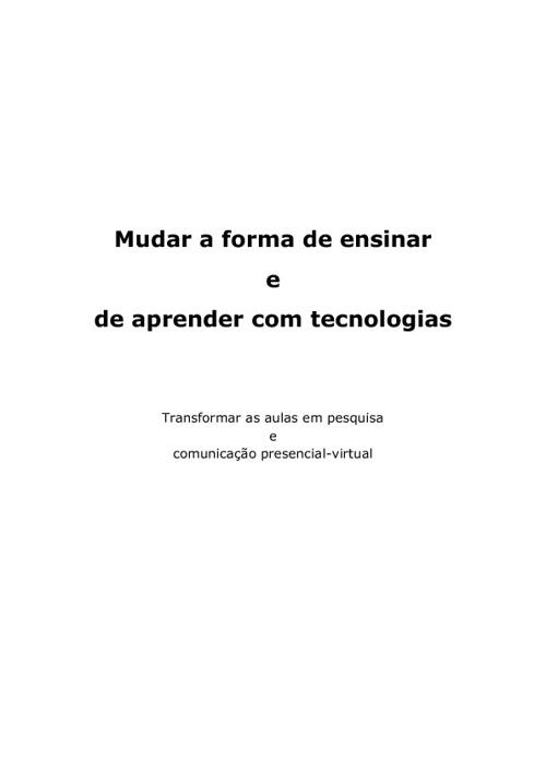 MUDAR A FORMA DE ENSINAR