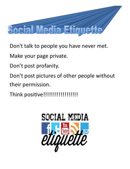 Social Media Etiquette & Digital Citizenship - 5th Period