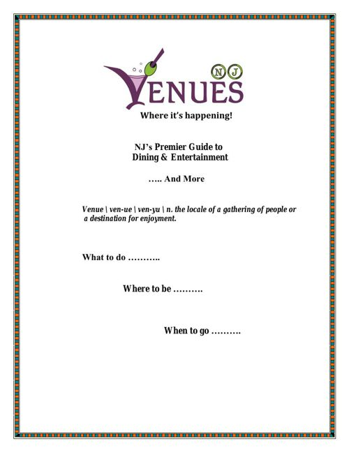 Venues NJ - 2015 Presentation Document 030315