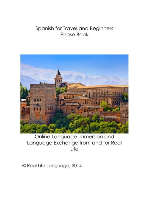 Spanish for Travel and Beginners Interactive Flip Book