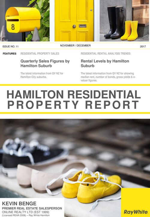Hamilton Residential Property Report for November 2017