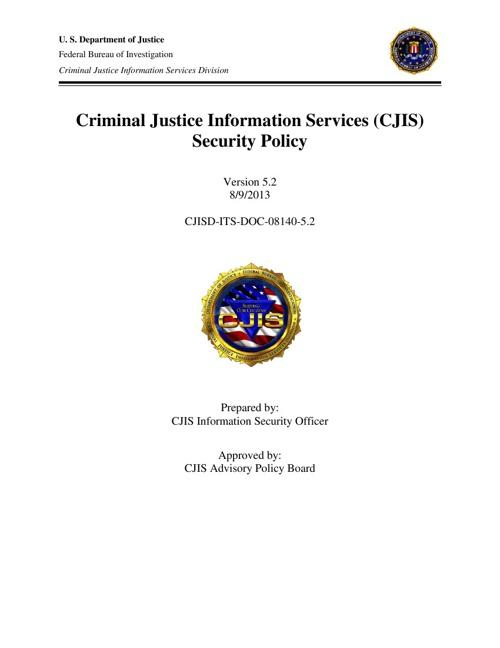 CJIS 5.2