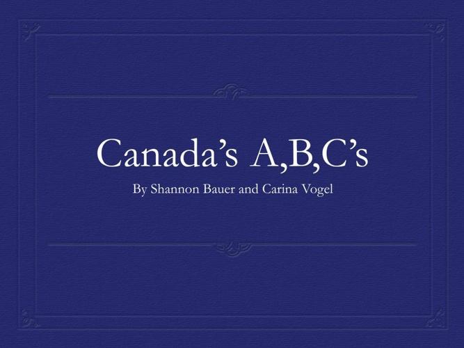 Canada ABC's
