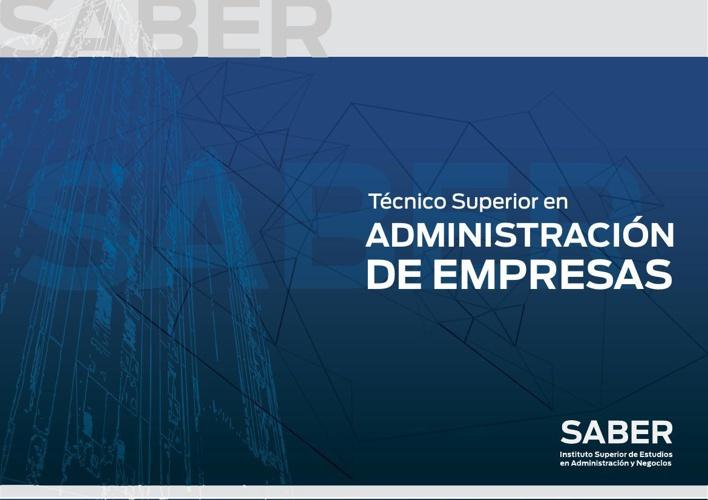 Técnico en Administración de Empresas - Instituto Saber