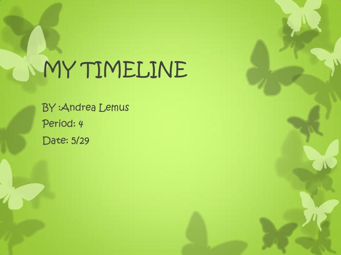 project of my timeline