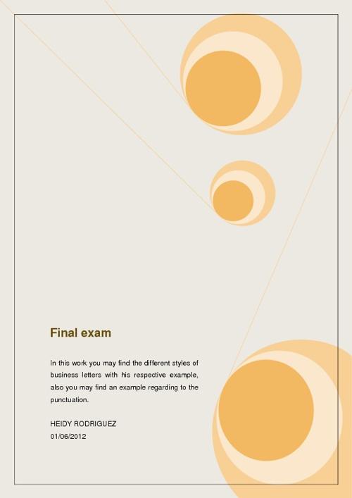 Final Exam Business Correspondence