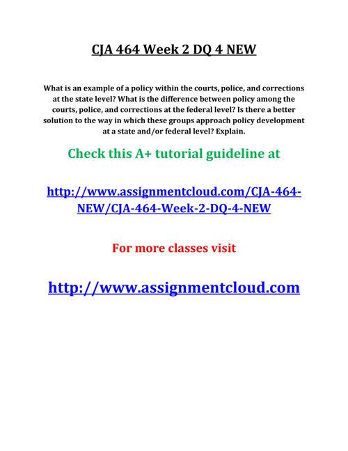 CJA 464 Week 2 DQ 4 NEW