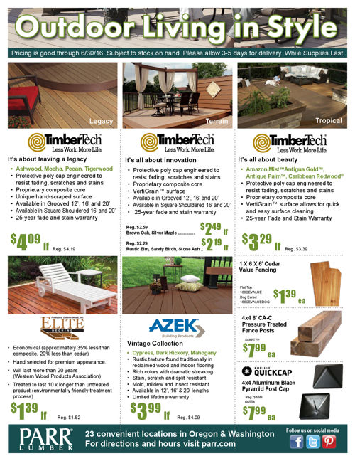 Parr Lumber June 2016 Sale - Default