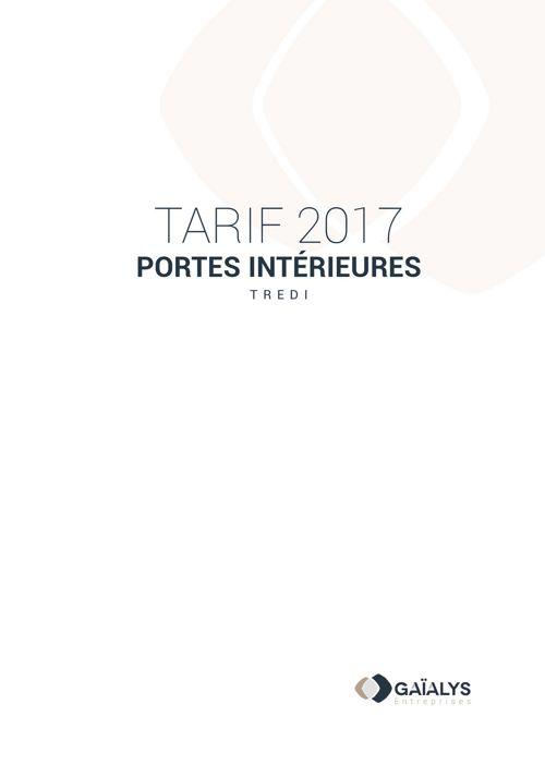 Tarif 2017 portes intérieures TREDI