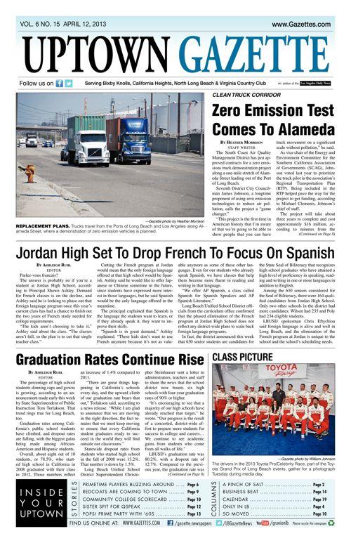 Uptown Gazette     April 12, 2013