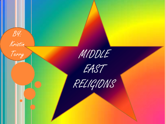 Middle East Religions Compare/Contrast-Kristin Terry Period 7