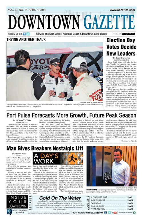 Downtown Gazette     April 4, 2014