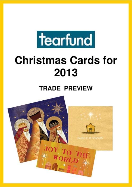 Tearfund Christmas Cards 2013