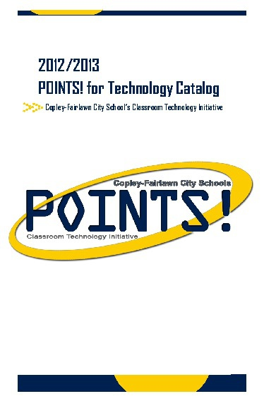 2012/2013 Points Catalog