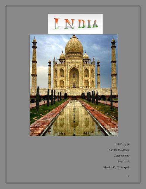 Ancient India: Cayden, Niles, Jacob
