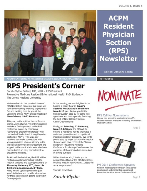 RPS Newsletter February 2014_Final