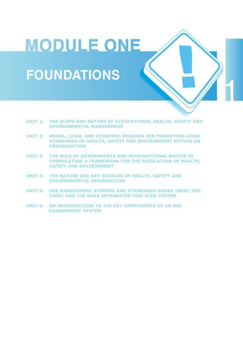SAMTRAC Module 1- Foundations to HSE