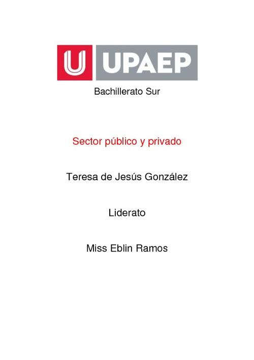 Sector publico y privado.